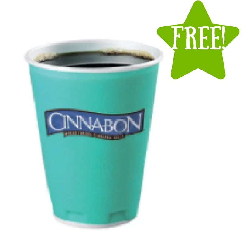 FREE Coffee at Cinnabon (9/29 Only)