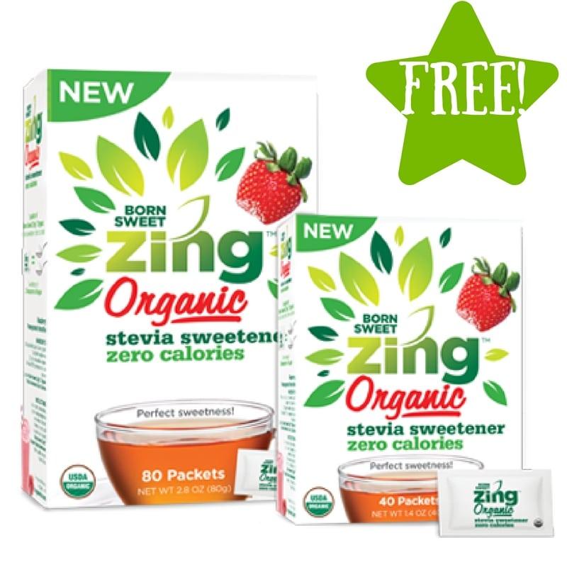 FREE Born Sweet Zing Organic Zero Calorie Stevia Sweetener Sample