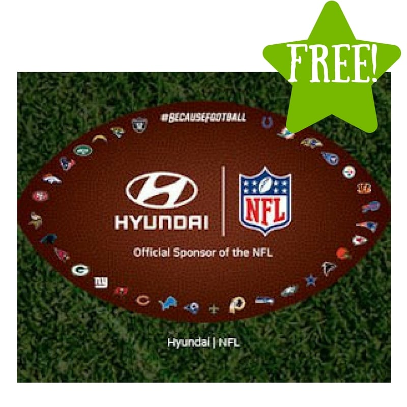 FREE NFL Window Cling from Hyundai