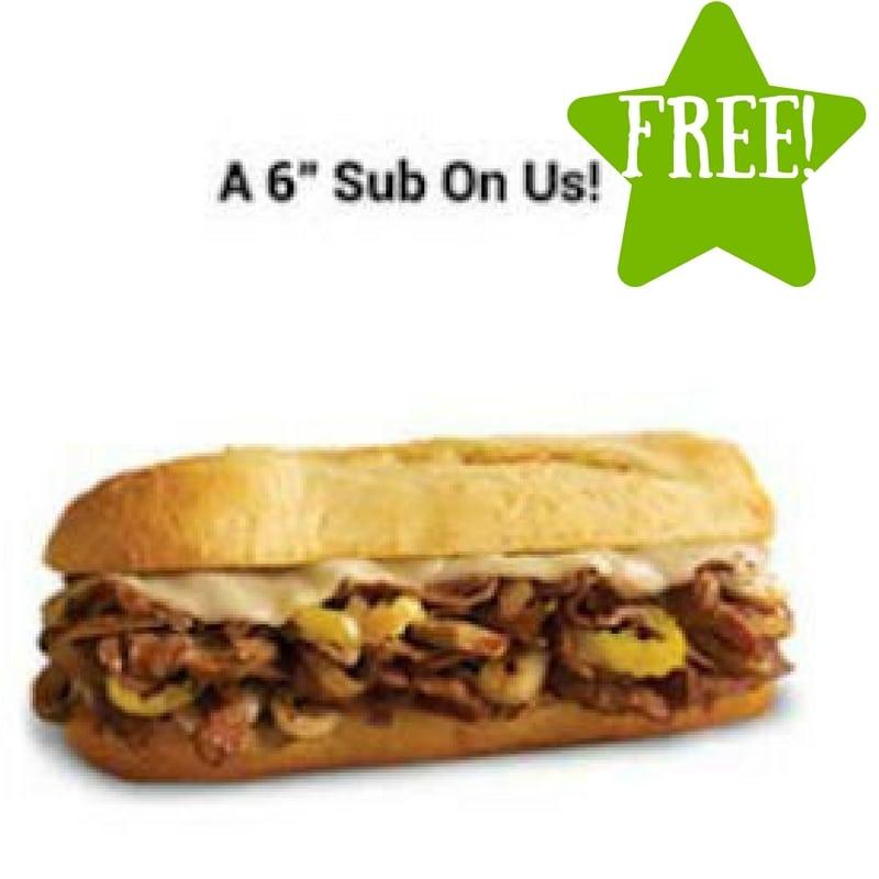 FREE 6 Inch Sub at Penn Station