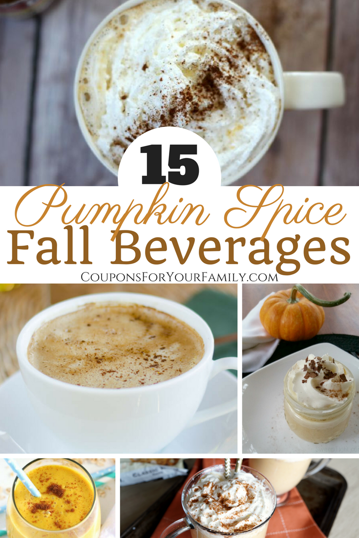 15 Tasty Pumpkin Spice Latte and Drink Recipes to try!!