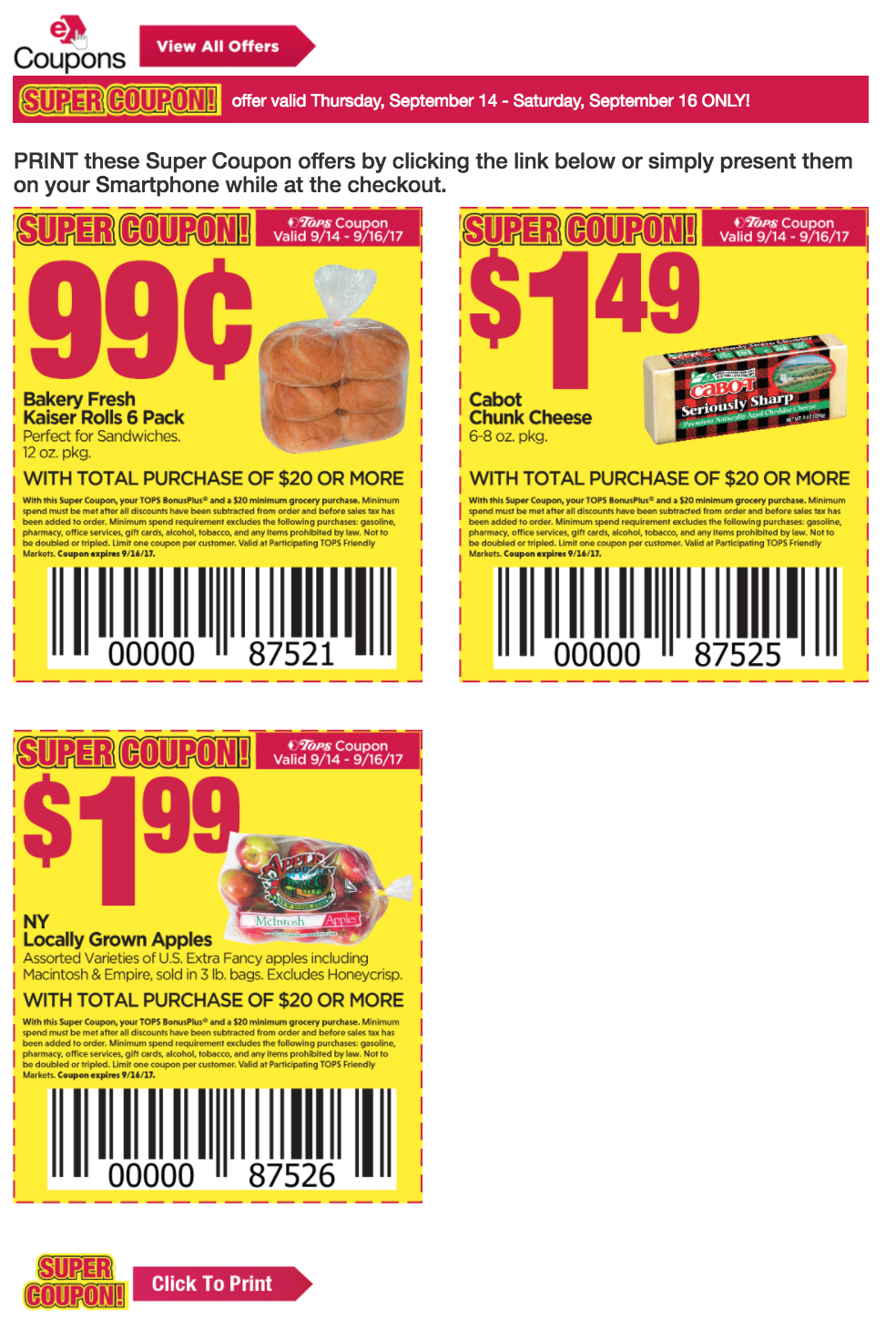 Find the current Tops Markets Ad Scan & Coupon Matchups here. Find the printable shopping list with my favorite coupon deals here. Find the sneak peek of the Tops ad with match-ups for next week here (ad scan is posted, working on matchups!!).