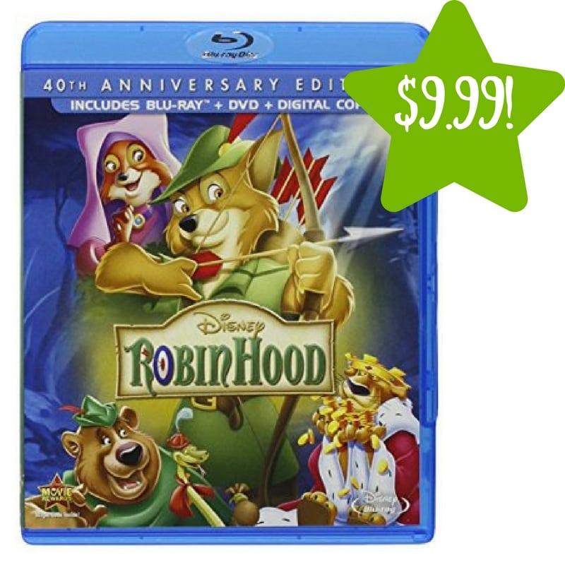 Amazon: Robin Hood 40th Anniversary Edition DVD + Blu-ray + Digital Only $9.99