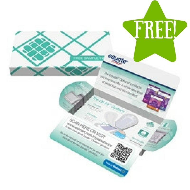FREE Equate or Assurance Liner & Pad Sample Kits