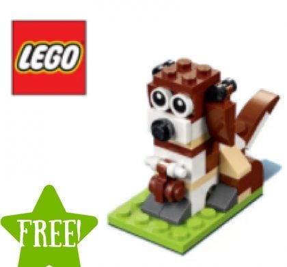 FREE LEGO Dog Mini Model Build