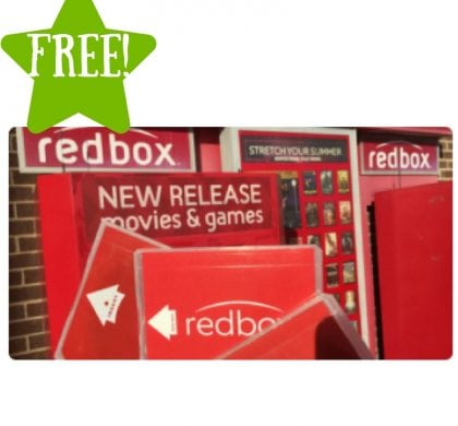 FREE Redbox DVD or Bu-ray Rental