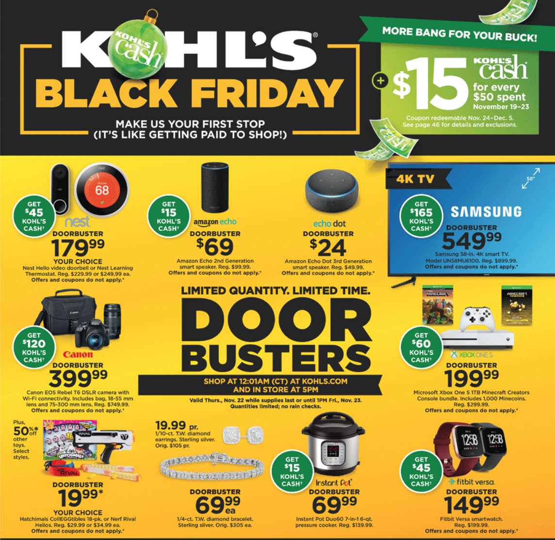 Kohls Black Friday Ad 2018 & Some Deals LIVE NOW ! Full Ad & Online shopping links!