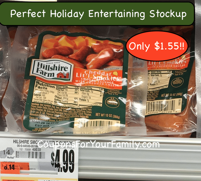 Tops Markets Hillshire Lil Smokies Sausage only $1.55 plus a Recipe to use them!!
