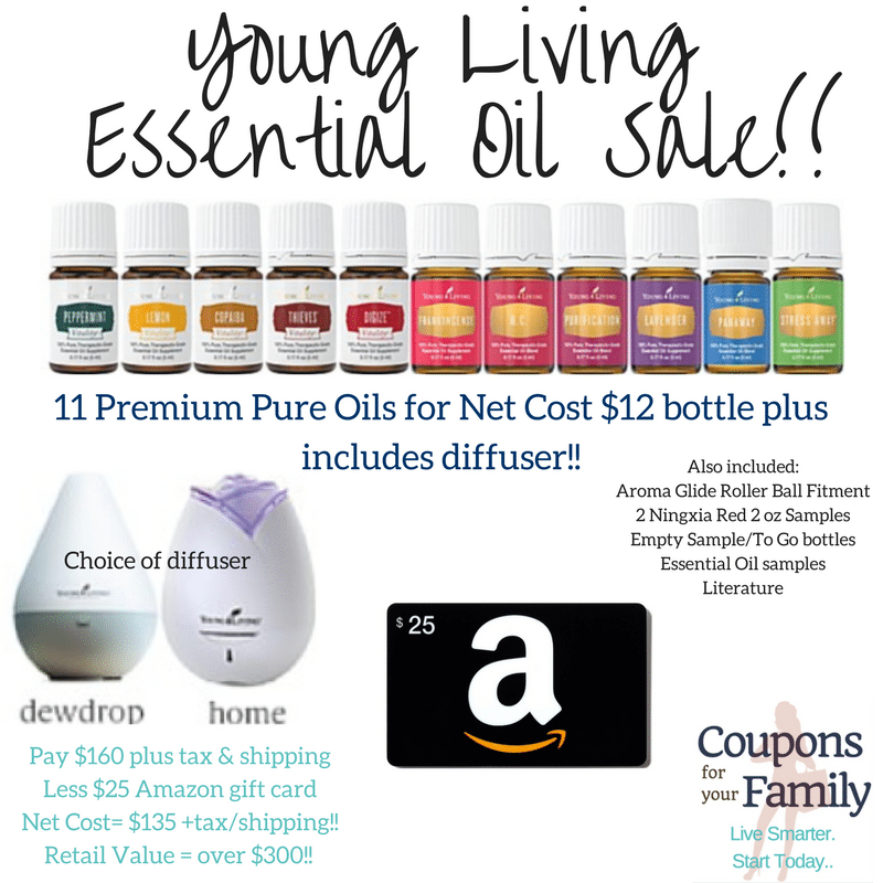 **HURRY** Today Only – Young Living Essential Oils Sale!! Retail Value $300 for $135 plus tax/shipping- ends midnight 10/31