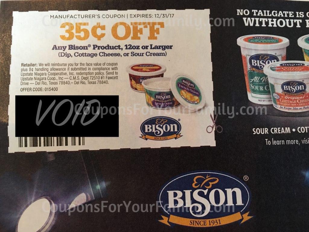 bison chip dip coupon