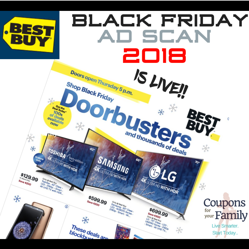 TONS OF DOORBUSTERS in the Best Buy Black Ad & Deals 2018- LIVE NOW!!!