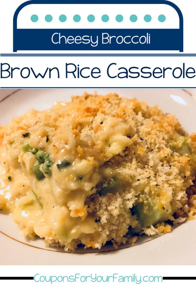 Cheesy Broccoli Brown Rice Casserole