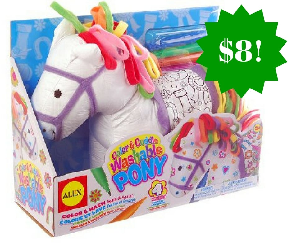 Amazon: ALEX Toys Craft Color and Cuddle Washable Pony Only $8 (Reg. $18)