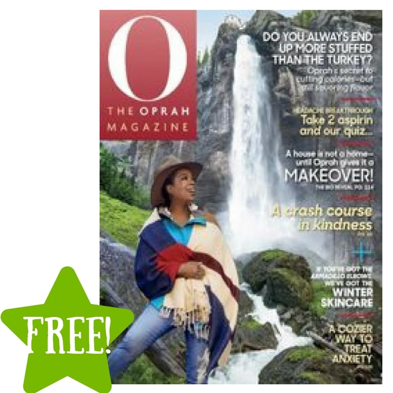 FREE O, The Oprah Magazine Subscription