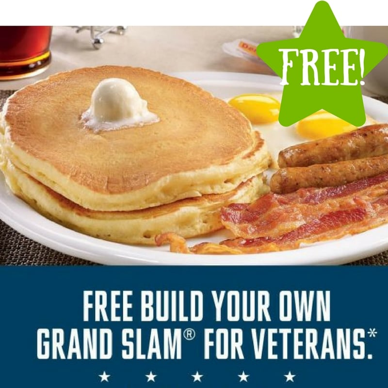 FREE Grand Slam at Denny's for Military (11/10 Only)