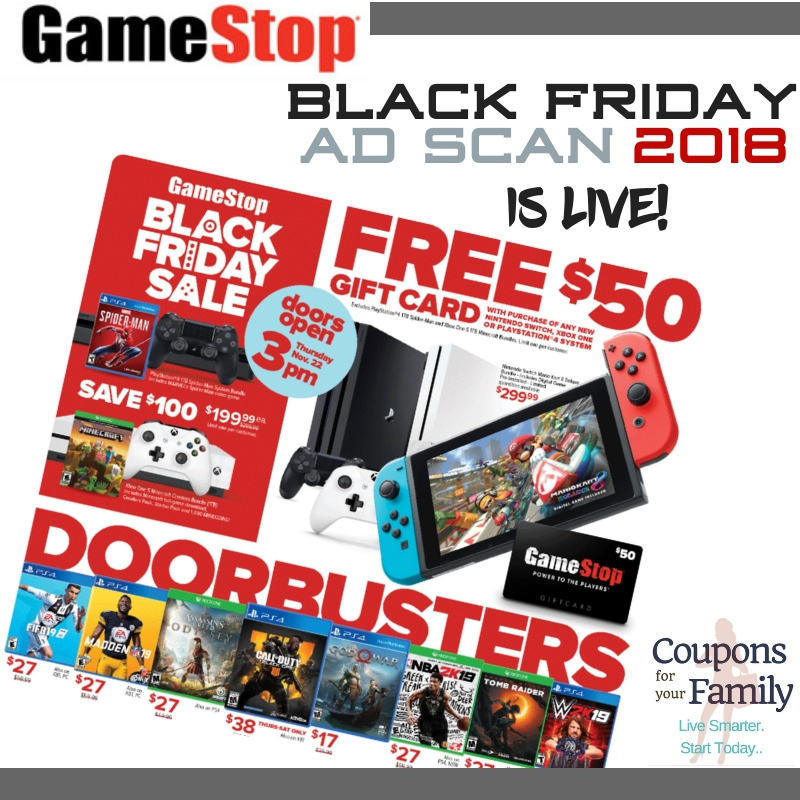 The GameStop Black Friday Deals & Shoppable Ad Scan 2018 is live- buy here RIGHT NOW!