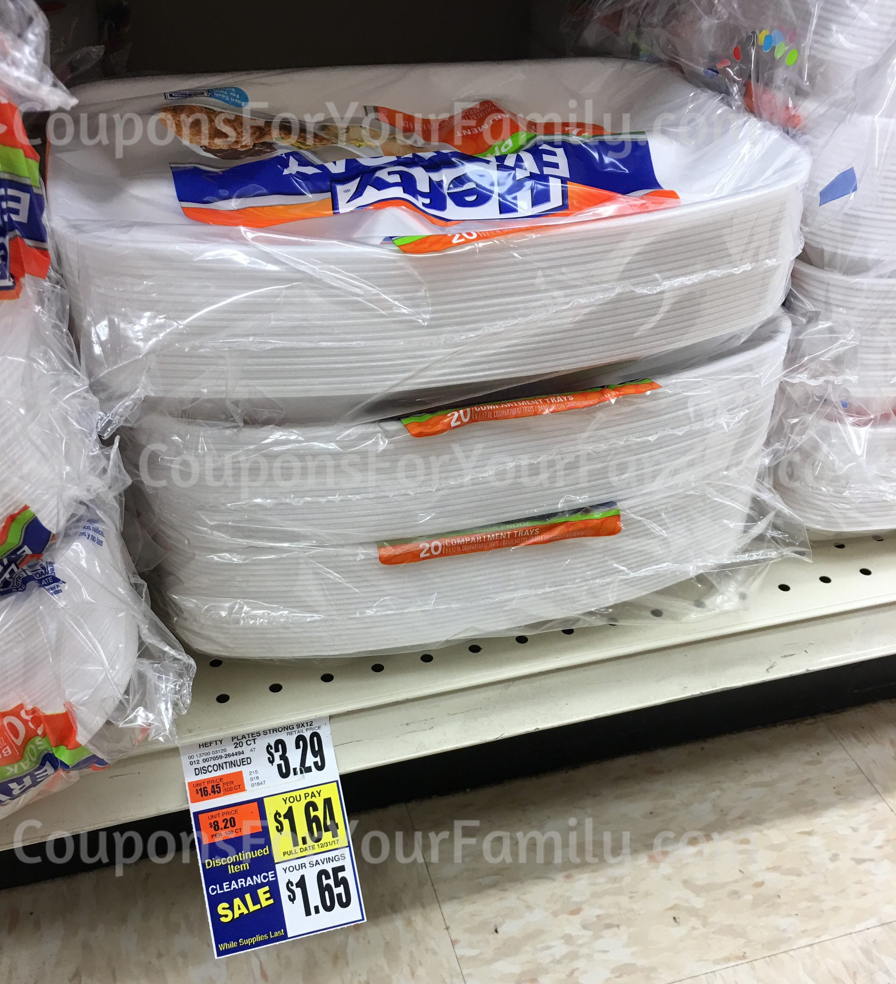 Large Rectangular Hefty Plate Clearance at Tops~~ only $.1.14 after coupon!