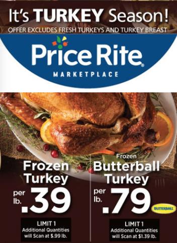 Price Rite Turkey Prices 2