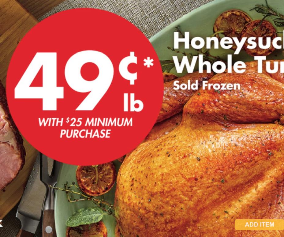 SaveALot Turkey Price Honeysuckle White