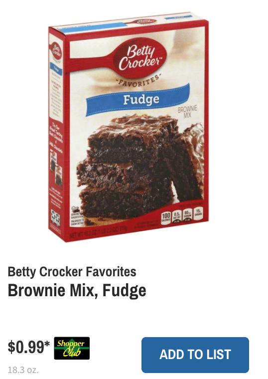 Wegmans betty crocker browne