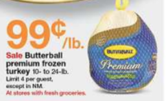Target Turkey Prices Butterball