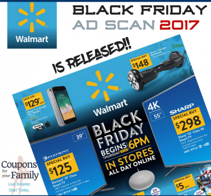 Check out the awesome Walmart Black Friday Ad Scan and Deals 2017 !