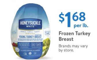 Walmart Turkey Price Honeysuckle White