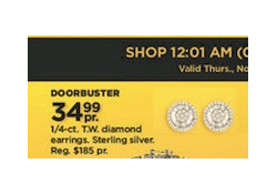 Kohls Doorbuster Deal 2017 LIVE ~ 1/4 ct Diamond Earrings ONLY $34.99