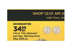 Kohls Doorbuster Deal 2017 LIVE ~ 1/4 ct Diamond Earrings ONLY $34.99