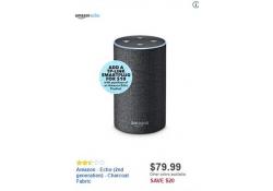 Best Buy Doorbuster NOW LIVE:  Amazon Echo 2nd Generation ONLY $79.99!!!