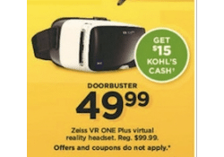 Kohls Doorbuster Deal 2017 LIVE NOW ~ Zeiss VR ONE Plus Virtual Reality Headset ONLY $34.99!!!