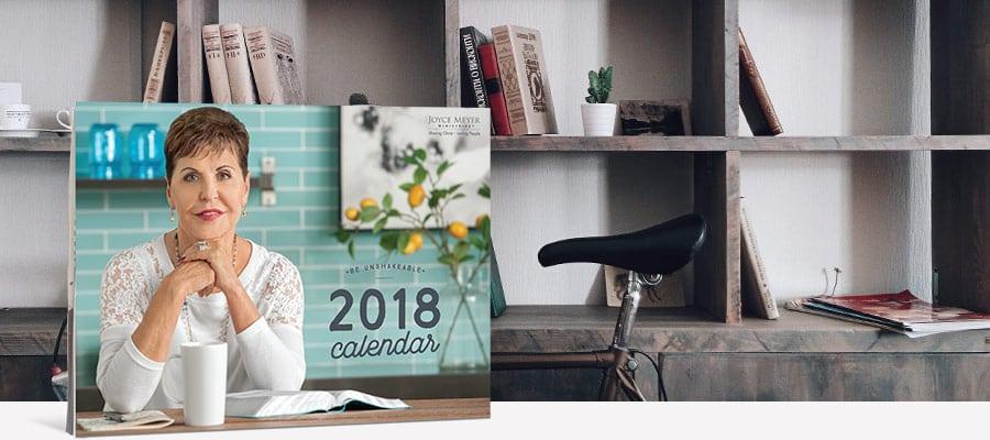 FREE 2018 Joyce Meyer Wall Calendar