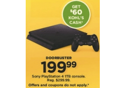 Kohls Doorbuster Deal 2017 LIVE~ Sony PlayStation 4 1TB Console ~ ONLY $139.99
