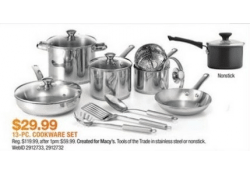 Macys Doorbusters are LIVE NOW – Tools of the Trade Stainless Steel Cookware Set ONLY $29.99!!!