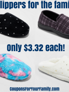 slippers for $3.32
