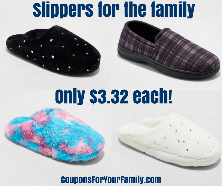 Great Cyber Week Deal- Get Slippers for only $3.32 at Target!!!