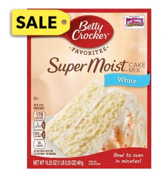 Dollar General: Betty Crocker Cake Mix Only $0.50!