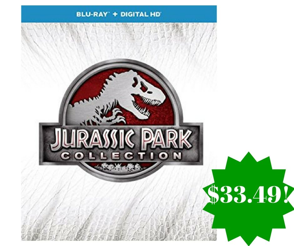 Amazon: Jurassic Park Collection 3D + Blu-ray Box Set Only $33.49 (Reg. $60)