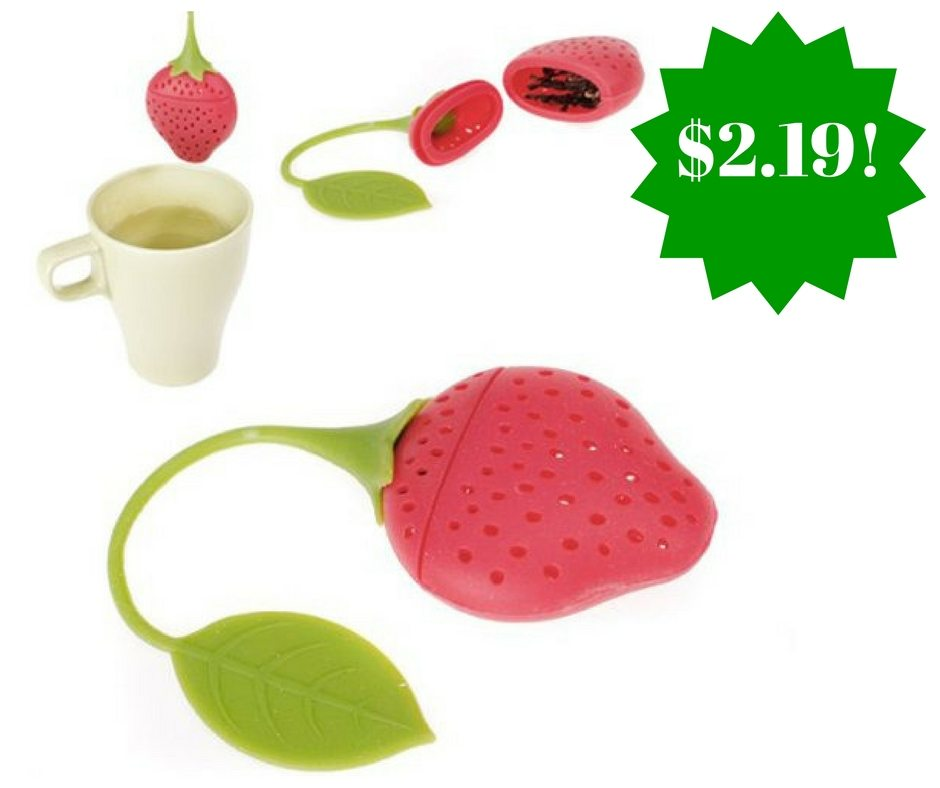 Amazon: Strawberry Design Silicone Tea Infuser Only $2.19 Shipped