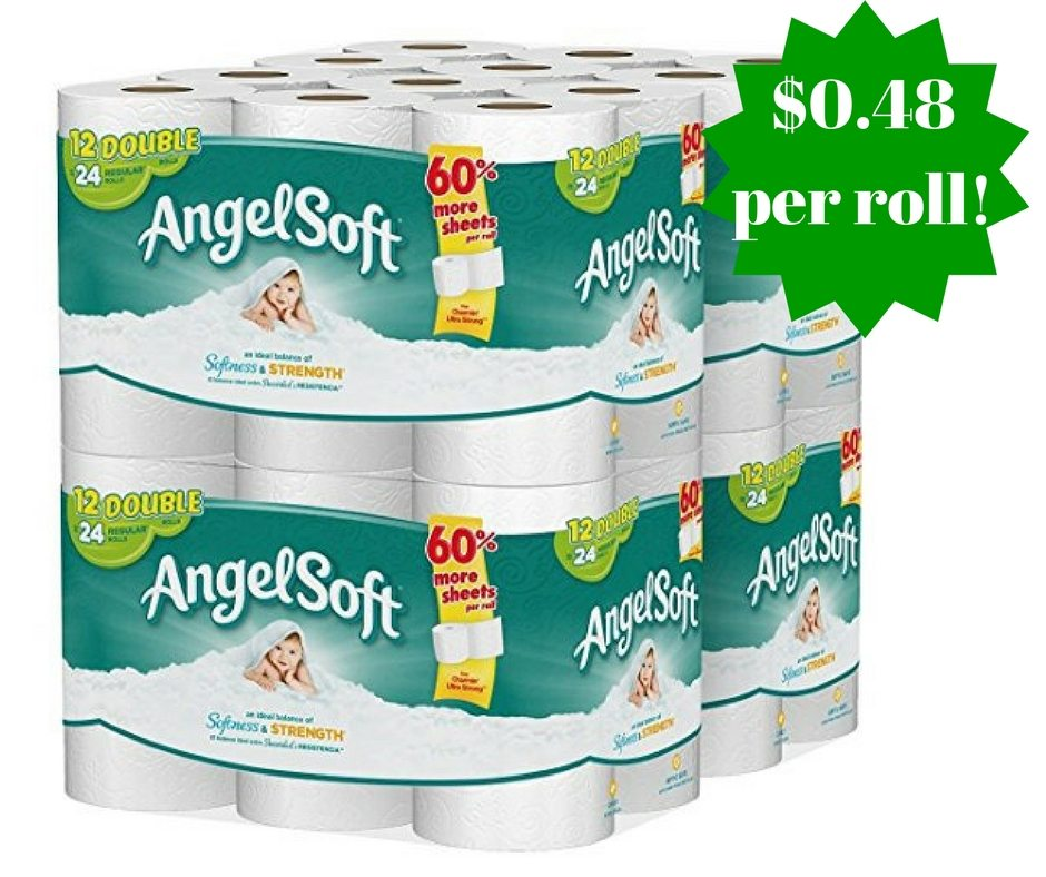 Amazon: Angel Soft Toilet Paper 48 Double Rolls Only $0.48 Per Roll