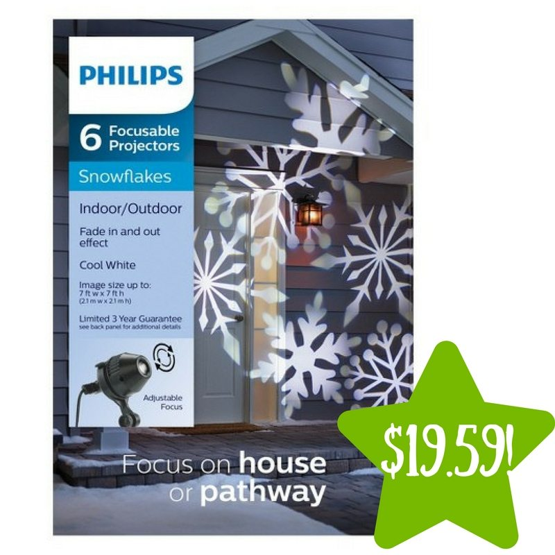 Target: Philips Christmas LED Cool White Snowflake Projector Only $19.59 (Reg. $28)