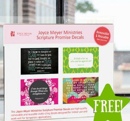FREE Joyce Meyer Scripture Promise Decals