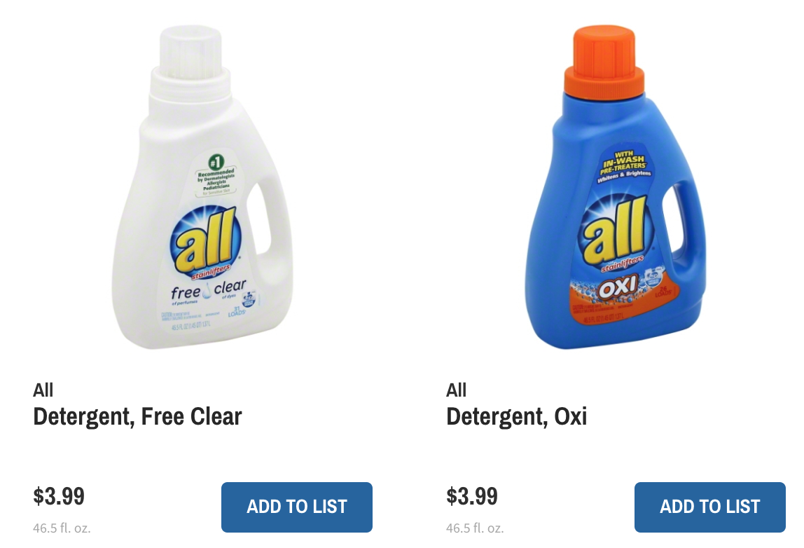All Laundry Detergent only $1.99 at Wegmans with new coupon!!