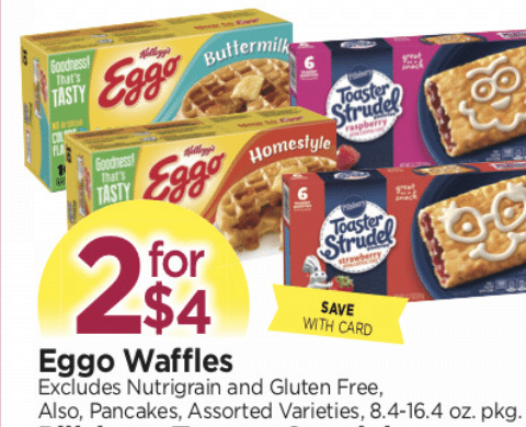 HURRY- Get Eggos for only $.50 each at Tops– ends 1:30pm WEDS 12/6!!
