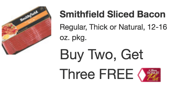Starting 12/17/17 at Tops Markets: Smithfield Bacon only $3.40 each!!- print coupon now!!