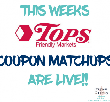 More than 45 Best Deals at Tops Friendly Markets 1/21-1/27 this week!