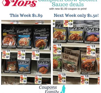 Tops : Get Campbells Slow Cooker Seasoning $1.89 this week OR $1.50 next week!!