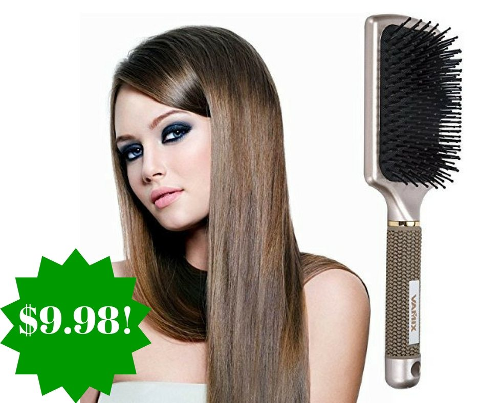 Amazon: VAMIX Velvet Touch Paddle Hair Brush Only $9.98 (Reg. $40)