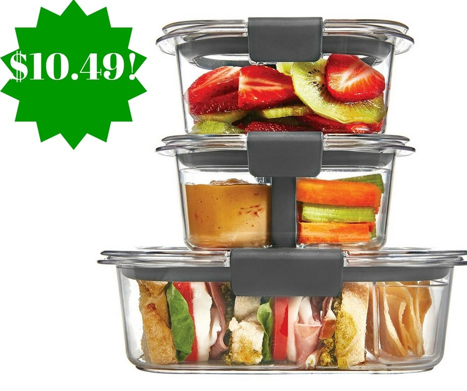 Amazon: Rubbermaid Brilliance 10-Piece Sandwich/Snack Lunch Kit Only $10.49 (Reg. $18)