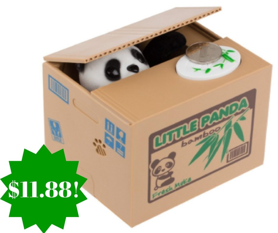 Amazon: Stealing Coin Panda Piggy Bank Only $11.88